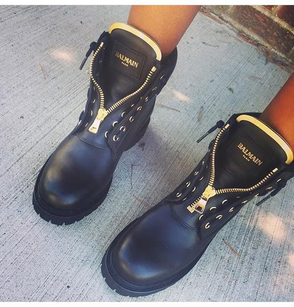 a4f07809fef shoes black ballmainboots boots balmain black and gold
