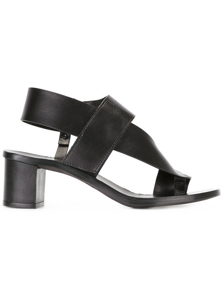 ÁLVARO women sandals leather black shoes