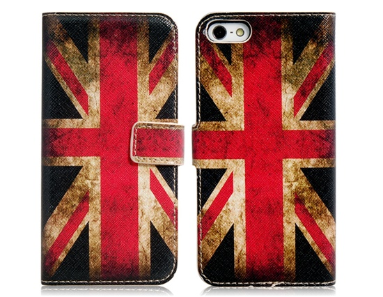 [US$6.18] - My Colors UK Flag Print Faux Leather Flip Case for iPhone 5 : FancyCost - Cool Gadgets at Low Price - Worldwide Free Shipping
