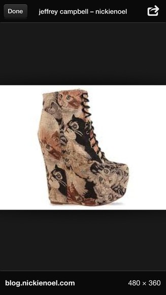 shoes jeffrey campbell high heels pumps cats kittens love them