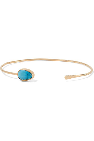 cuff gold turquoise jewels