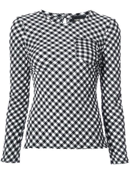 Rachel Comey - checked top - women - Polyamide/Polyester/Spandex/Elastane - 2, Black, Polyamide/Polyester/Spandex/Elastane