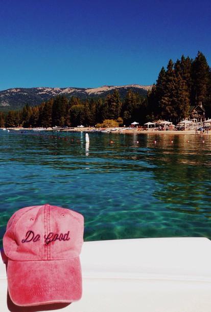 hat pink summer do good delta gamma blue old faded comfy cute sorority baseball hat