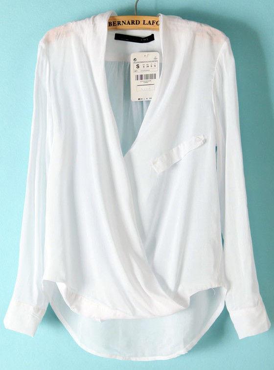 Zara style wrap over shirt size S | eBay