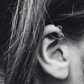 jewels,heart,earrings,helix piercing,ear piercings,heart earrings,silver,piercing,hearts jewel,earrings silver,accessories,heartshaped earring,tumblr,hot,this cartilage earring,Heart Piercing
