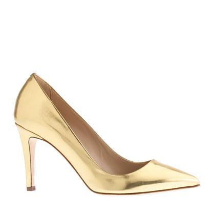 Everly mirror metallic pumps - evening - Women s shoes - J.Crew