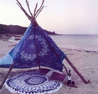 home accessory camping beach mandala summer holidays weekend escape