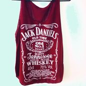 top,jack daniel's,burgundy,tank top,crop tops,fashion,ootd,casual