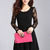 Woman Blocking Charming Dress - All Black on Luulla