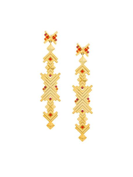 Charlotte Valkeniers women earrings gold silver grey metallic jewels