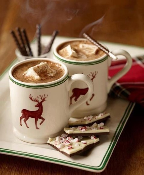 deer holiday season jewels mug