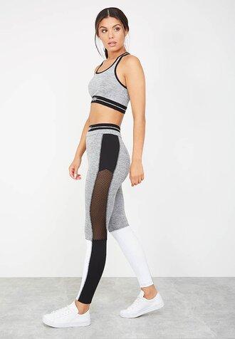 pants leggings grey grey leggings panelled leggings