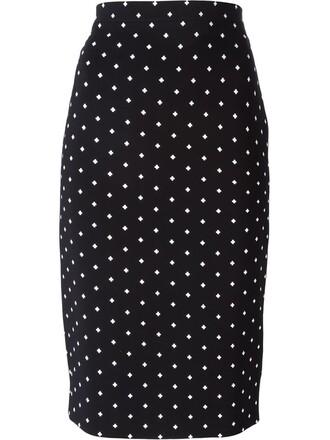 skirt pencil skirt cross print black