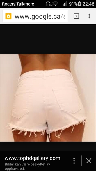 shorts white short shorts ripped
