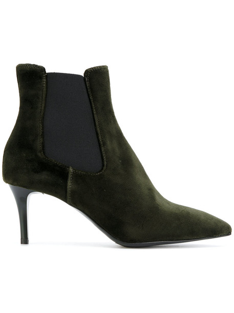 P.A.R.O.S.H. heel women chelsea boots leather cotton green shoes