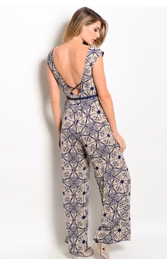 jumpsuit boho tribal pattern print