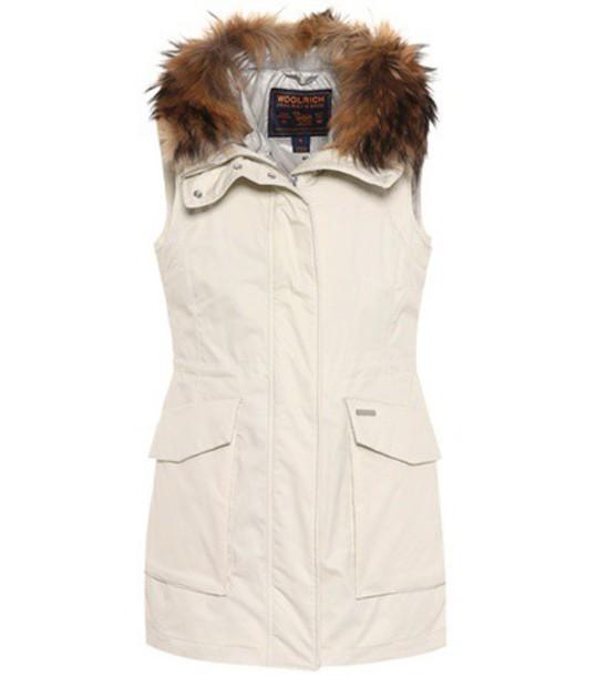Woolrich vest fur white jacket