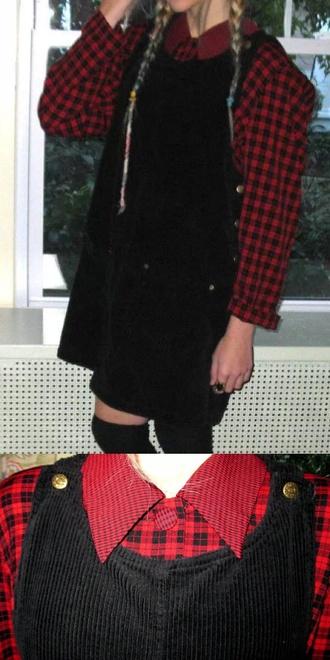 dress grunge black romper jumper vintage 90s style 90s dress