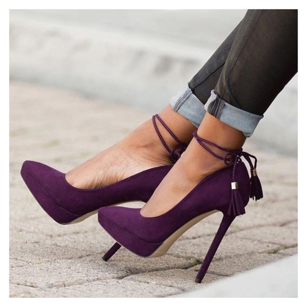 shoes purple violet purple shoes violet shoes strappy strappy heels heels high heels love lovely girl women girly pretty cool amazing fabulous gorgeous fashion fashionista trendy style stylish ankle strap heels ankle strap