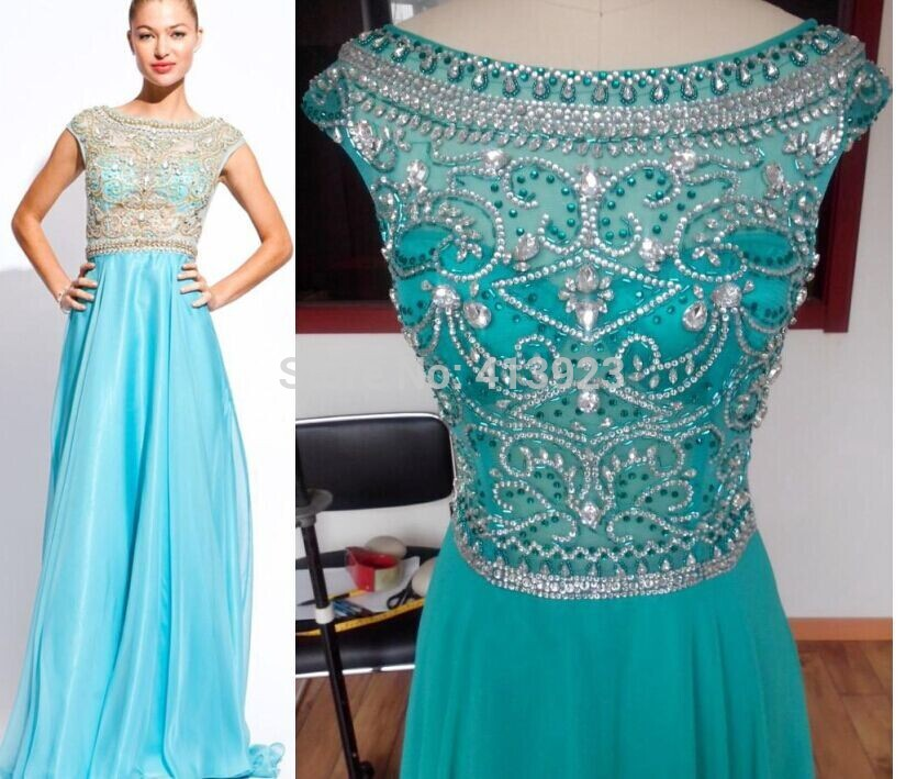 Aliexpress.com : Buy Real Photo Tulle Chiffon Fabric See Through Beading Handwork Long Prom Dress Evening Dress 2014 from Reliable dress fabric company suppliers on Chaozhou City Xin Aojia dress Factory