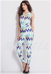 top,jumpsuit,dress,romper,pants,colorful,pattern,zigzag pattern,chevron,white,celebrity style,celebrity,celebstyle for less,luxury