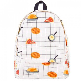 bag food white backpack pizza egg cool back to school boogzel