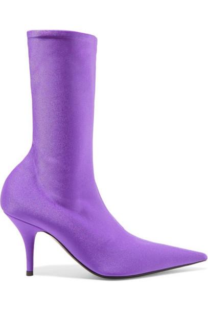 Balenciaga sock boots spandex purple shoes