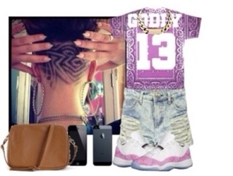 shirt cute flag pink dope gansta trill swag bandana print jordans