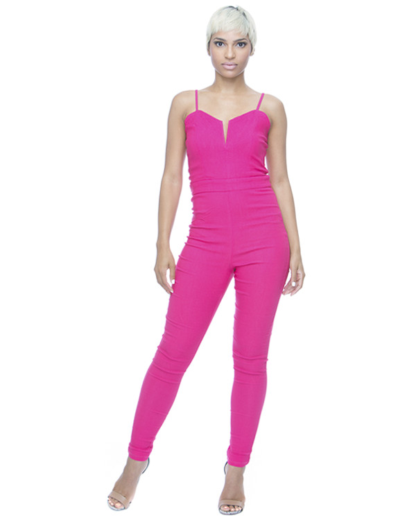 jumpsuit pink jumpsuit stretchy