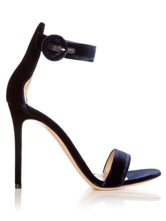 sandals velvet navy shoes