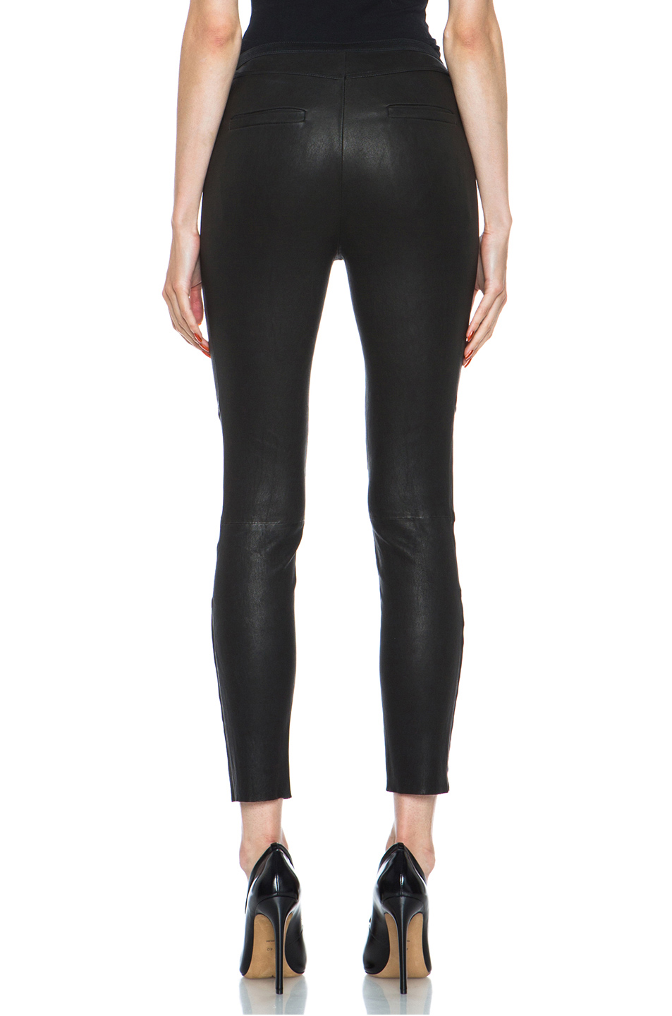 IRO|Allivia Lambskin Pant in Noir
