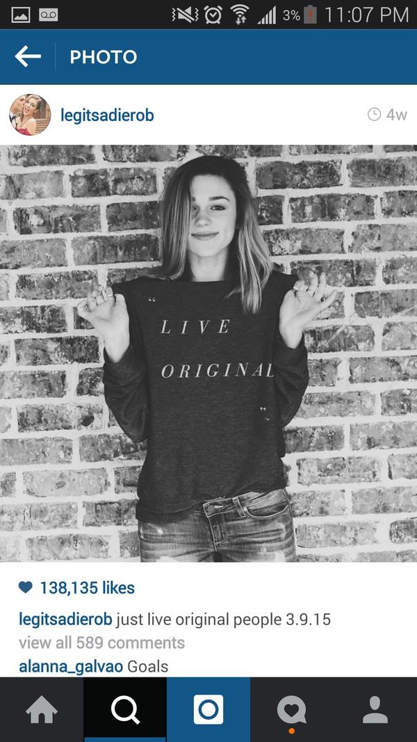 shirt sadie robertson live original black sweater long sleeves