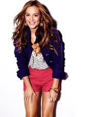 shorts,leighton meester,red,jacket,shirt