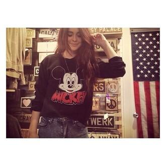 sweater hoodie acacia brinley brandy melville mickey mouse mickey mouse hoodies sweatshirt