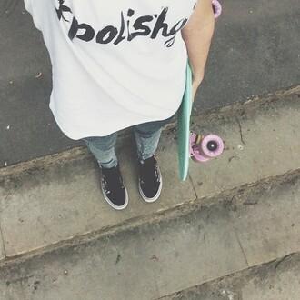 t-shirt yeah bunny polishgirl tee