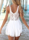 Cut Out Lace Jumpsuit - Juicy Wardrobe