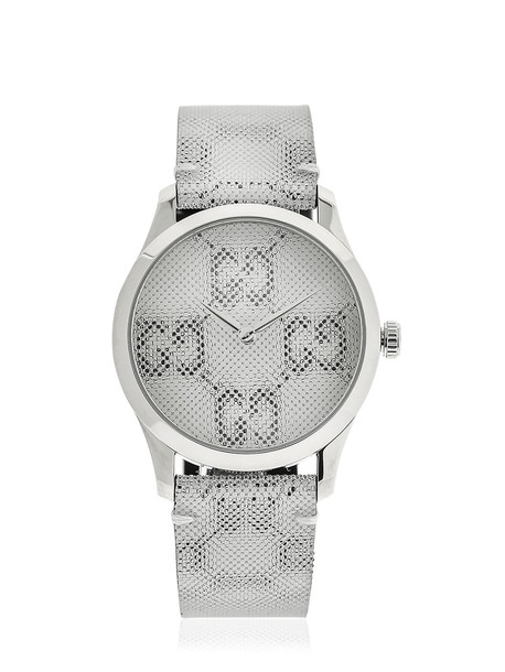 GUCCI 38mm G-timeless Gg Watch in white