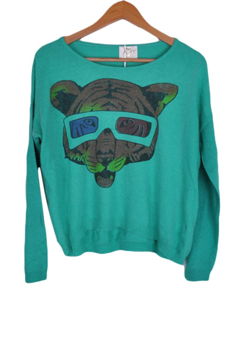 New Loose Cartoon Elephant Knitted Sweater,Cheap in Wendybox.com