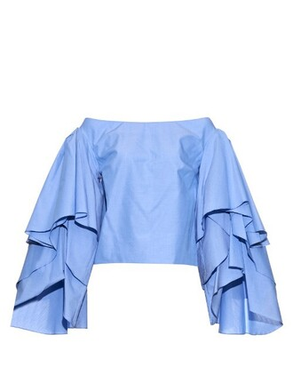 top cotton blue