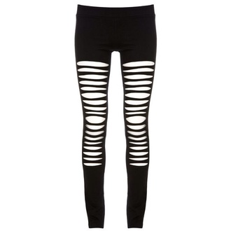 leggings shredded ripped maurie & eve black leggings grunge cute style