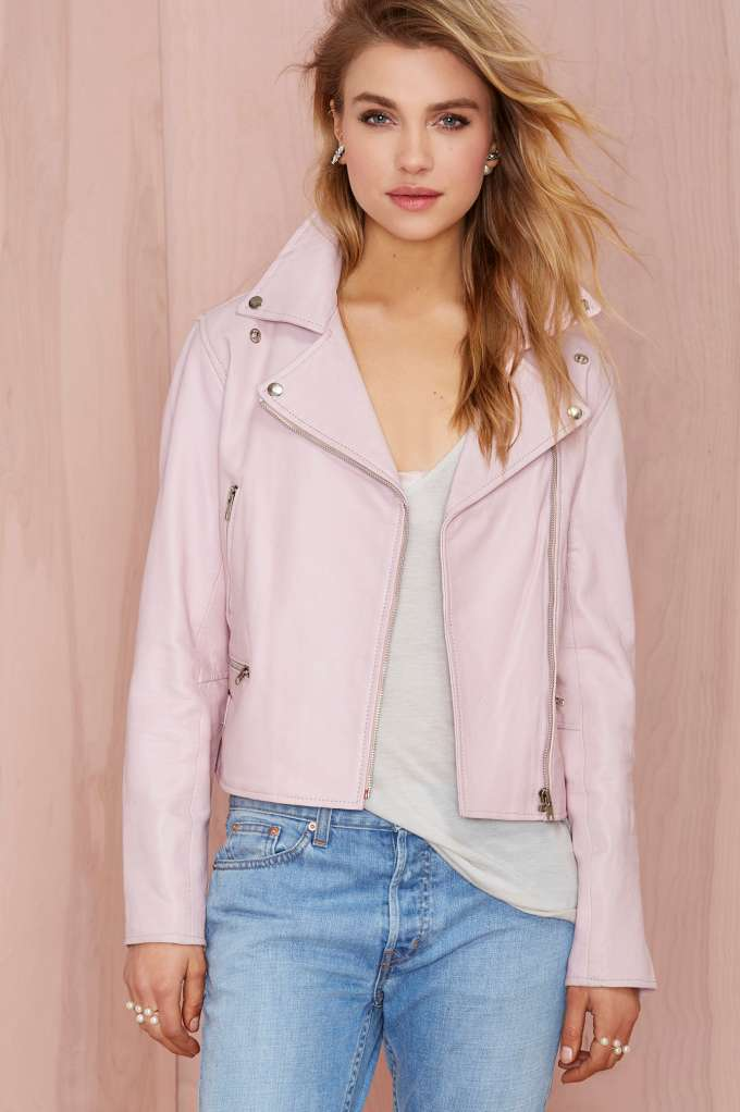 Wheels and dollbaby classic moto jacket