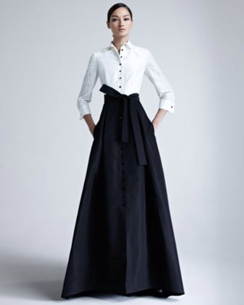High Waist Long Maxi Skirt