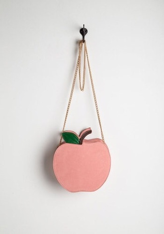 bag pink apple purse accessry