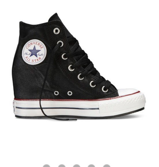 shoes converse high heels wedges