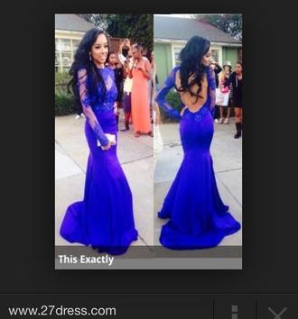 prom dress backless dress mermaid prom dresses blue dress