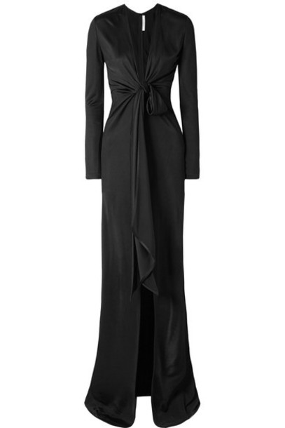 Givenchy gown black satin dress