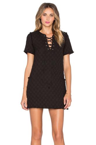 dress shift dress lace black