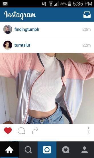 jacket pink gray nike adidas tumblr instagram clothes