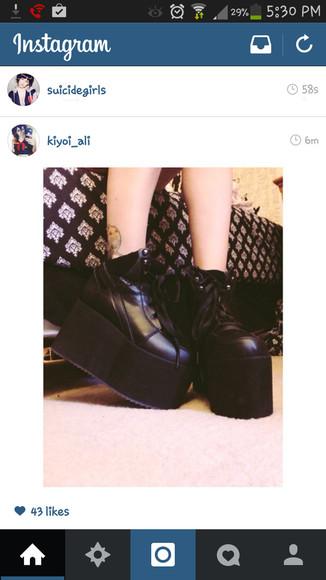 creepers platform shoes instagram