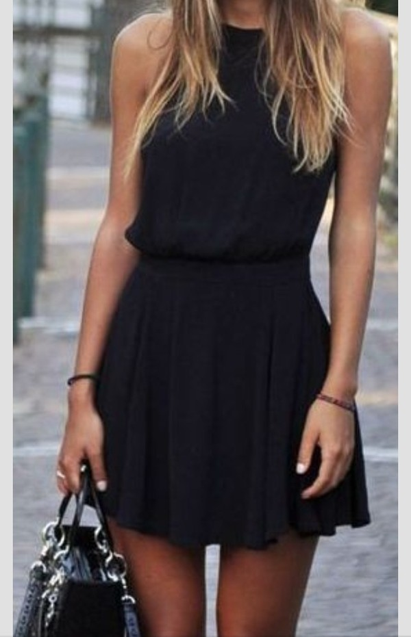 dress black black dress. sleeveless short love this summer casual black dress little black dress high neck mini dress